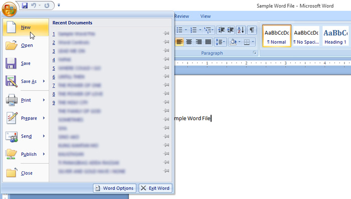 creating and saving word document � office tutorial