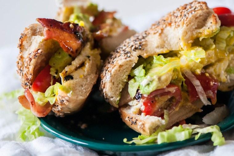 BLT Bagel Sandwich 13