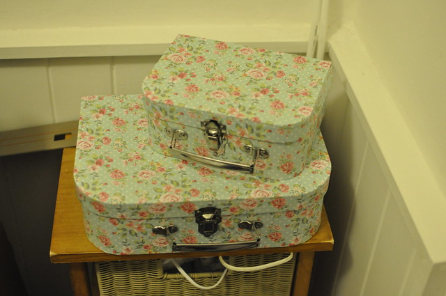 Lush Product Storage Vintage Suitcases