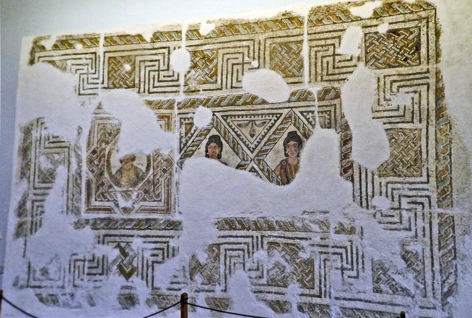 Mosaico romano Villa de El Olivar del Centeno Museo Provincial Caceres 11