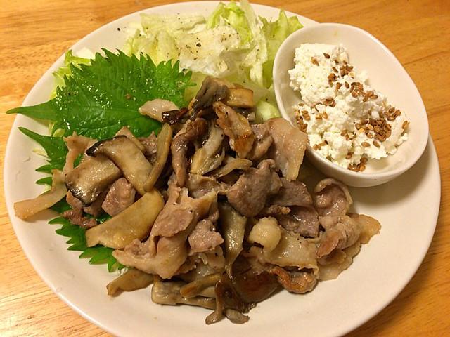 豚肉とキノコ
