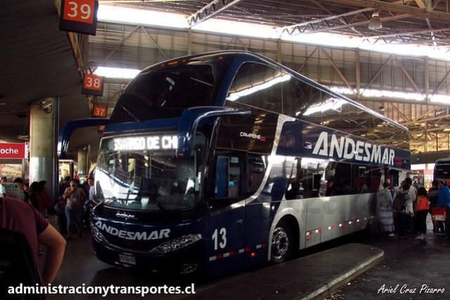 Andesmar Chile - Santiago (T. San Borja) - Comil Campione DD / Volvo (HSGG45) (13)