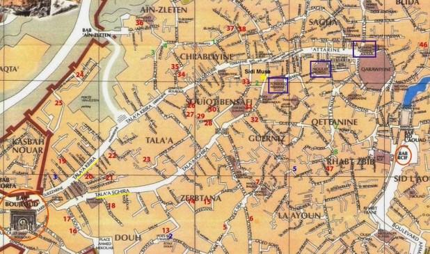Mapa de Fez