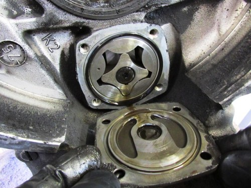 Oil Pump Cover Orientation - Black O-ring is On Engine Block