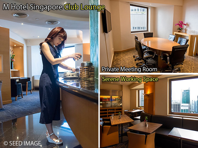 M Hotel Singapore Club Lounge View