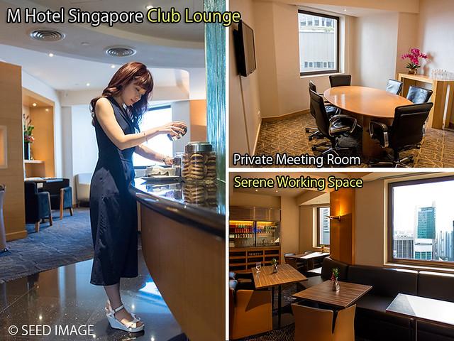 M Hotel Singapore Club Lounge View