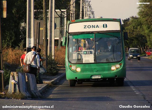 Transantiago - C. Nueva Milenio (Vule) - Metalpar Tronador / Mercedes Benz (XG3160) (i11)