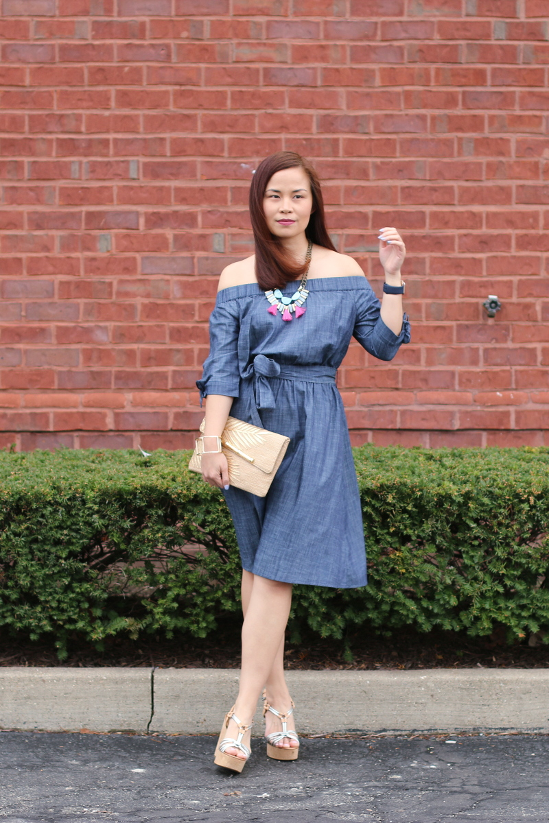 eShakti-chambray-off-shoulder-dress-9