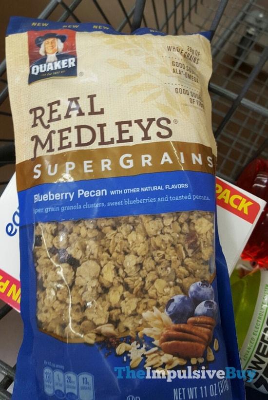 Quaker Real Medleys SuperGrains Blueberry Pecan