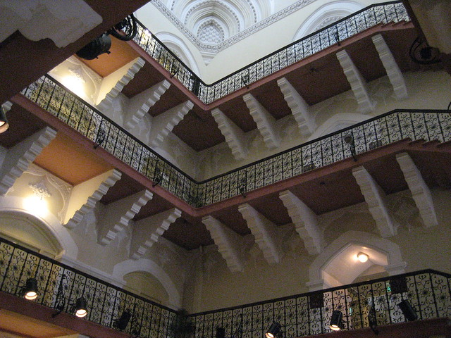 The inside of the Taj Hotel Mumbai staircase