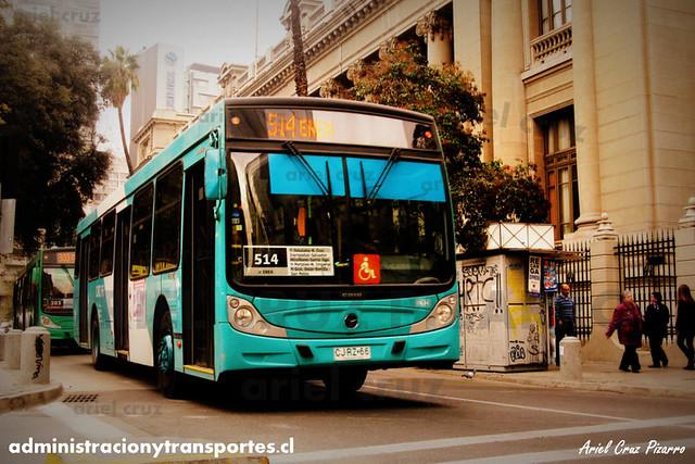 Transantiago (514) - Metbus - Caio Mondego H / Mercedes Benz (CJRZ66)