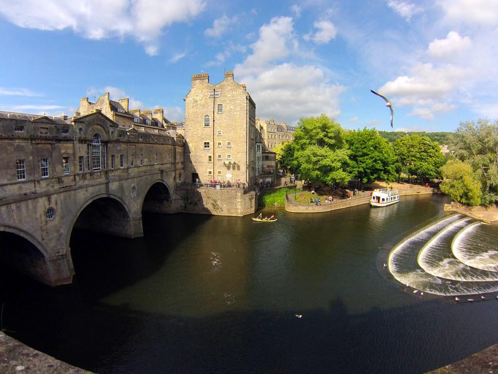 Bath en un día: Pultney Bridge de Bath Bath en un día Bath en un día, el SPA de Roma en Inglaterra 25057268022 1d8b0b9bea b