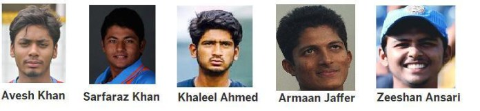 Under 19 Cricket WC 2016 - 5 Muslim Players