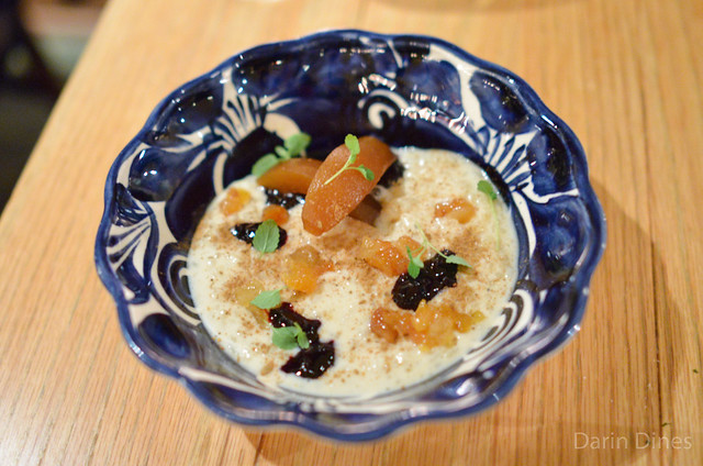 ARROZ CON LECHE Arborio Rice, Roasted Pear, Blackberry Jam, Warm Tres Leches, Canela
