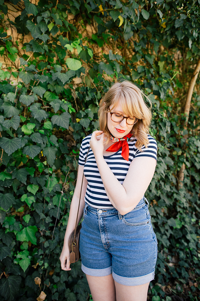 navy stripes red scarf3