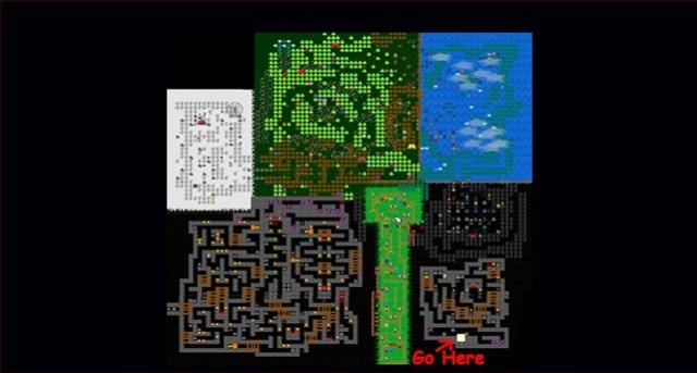 Πέντε νύχτες στο Παγκόσμιο του Freddy - Χάρτης