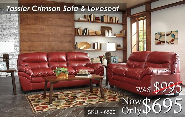 Tassler Crimson Living Set