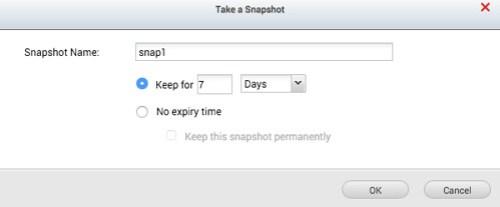 ตั้งชื่อ Snapshot แล้วก็เลือกได้ว่าจะเก็บไว้นานแค่ไหน