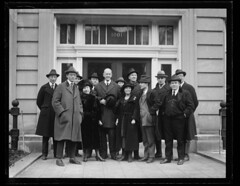Debs with group outside Dougherty's office: 1921