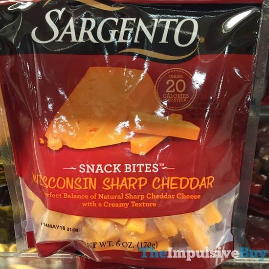 Sargento Wisconsin Sharp Cheddar Snack Bites