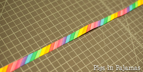 Rainbow bias tape