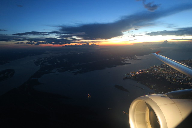 flight over manaus amazon river