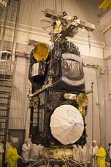 Mating of Sentinel-3A on Breeze