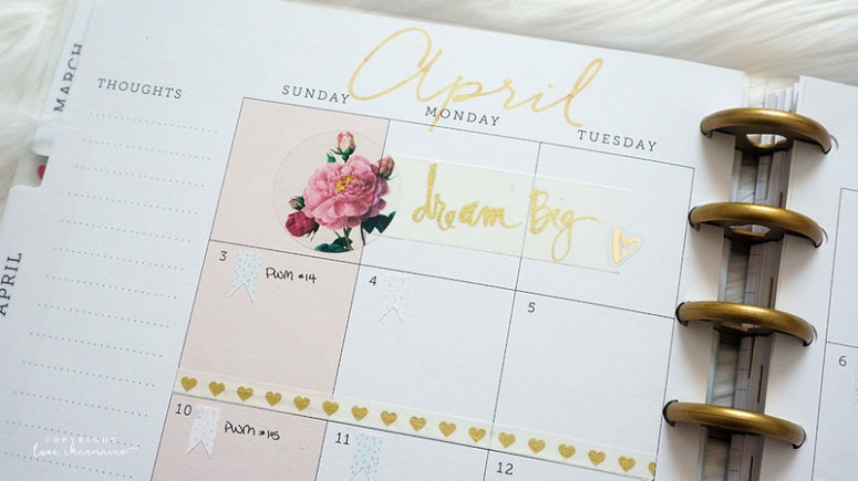 Plan With Me Week 13 and April 2016 Monthly Spread | LoveCharmaine.com