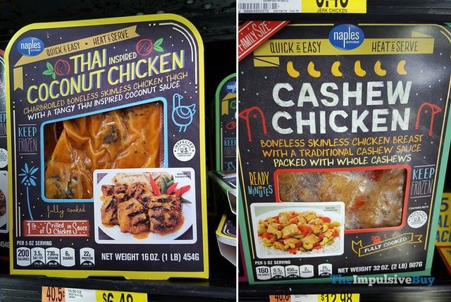 Naples Thai Coconut Chicken and Cashew Chicken