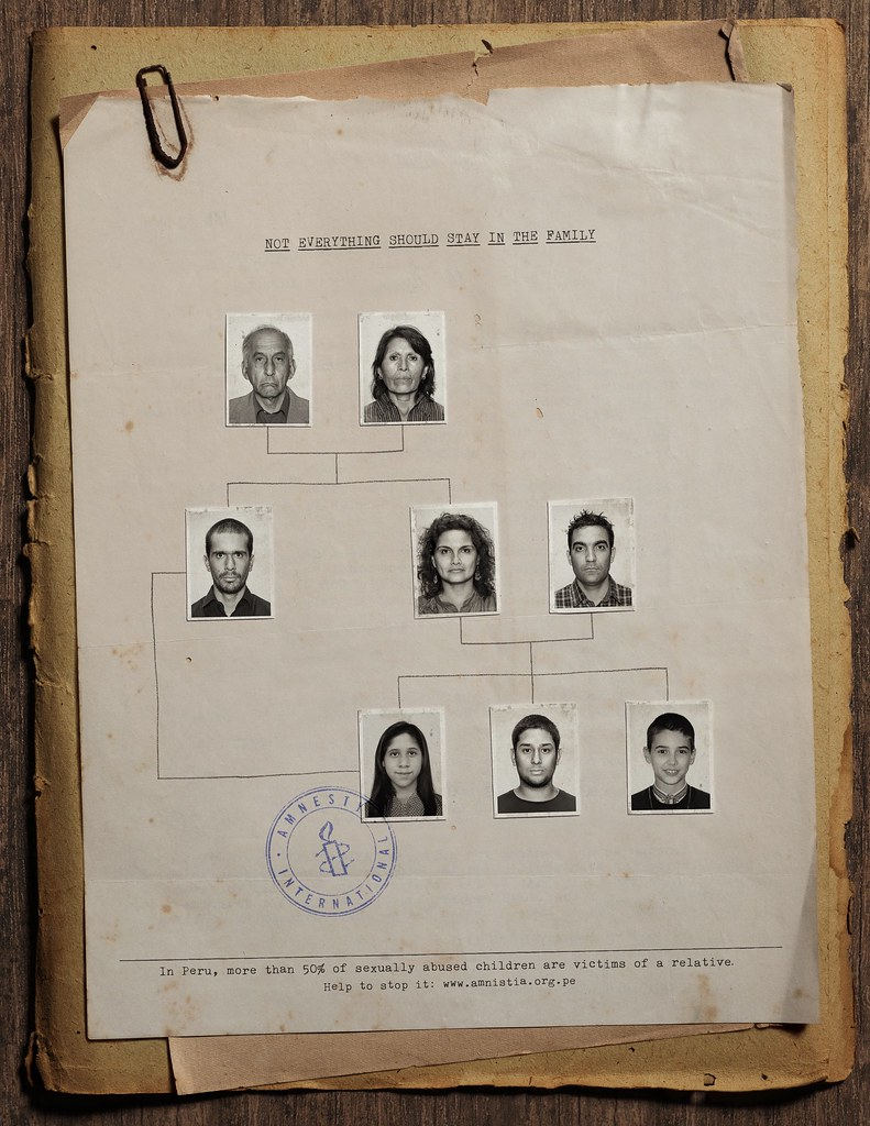 Amnesty International - Not everything should stay in the family 1