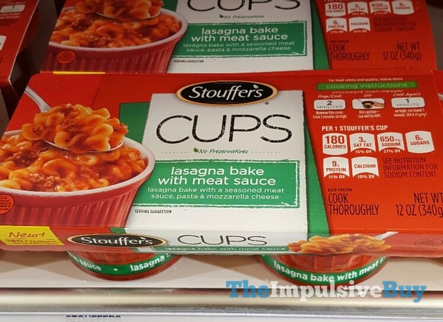 Stouffer's Cups Lasagna Bake with Meat Sauce