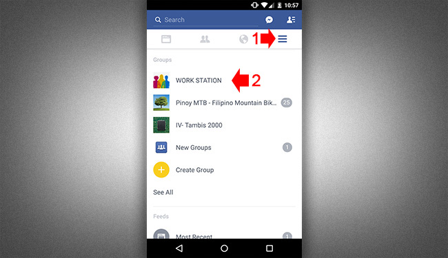 Leave Fb Group - Mobile App