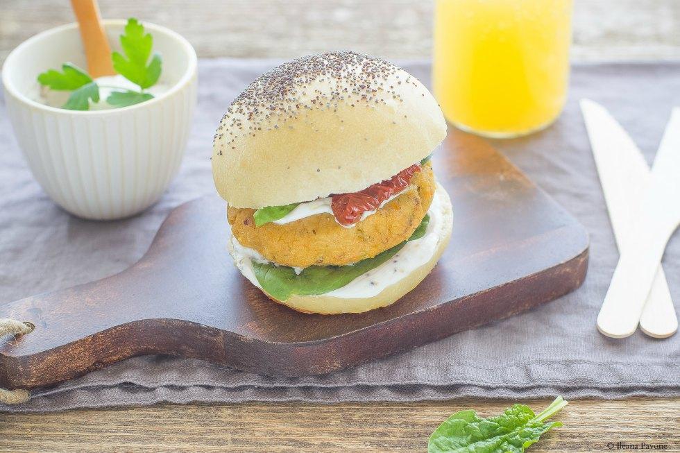 Burger vegetariani di ceci3