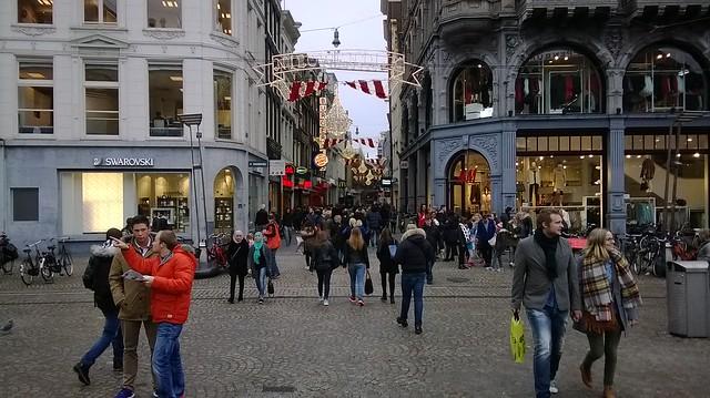 shopping street amsterdam day