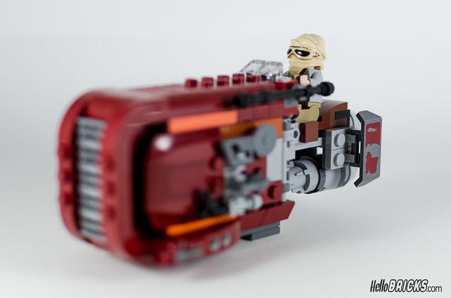 REVIEW LEGO Star Wars 75099 Rey's Speeder 21 - HelloBricks