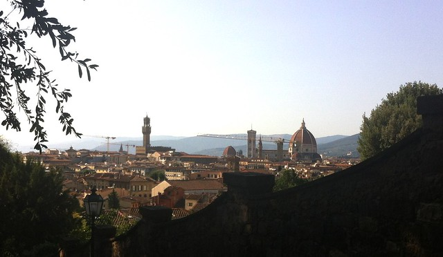 The view over Florence with Brunelleschi's dome on the right