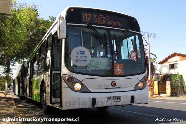 Transantiago (117) - Alsacia - Marcopolo Gran Viale / Scania Biodiésel (DBFZ92)