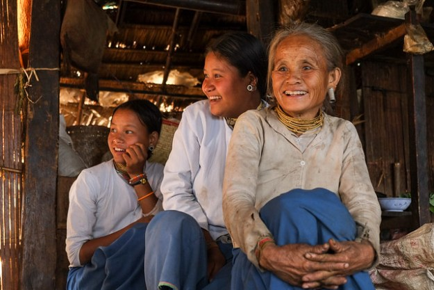 Lahu grandmother and granddaughters