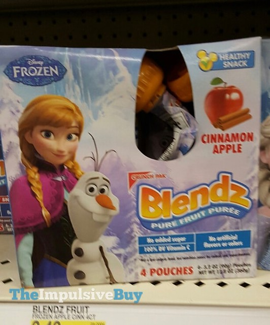 Crunch Pak Disney Frozen Cinnamon Apple Blendz Pure Fruit Puree
