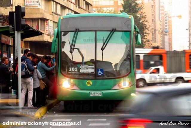 Transantiago - Buses Vule - Busscar Urbanuss Pluss / Mercedes Benz (BJFP38)