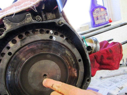 Clutch Pressure Plate with & Flywheel Paint Marks