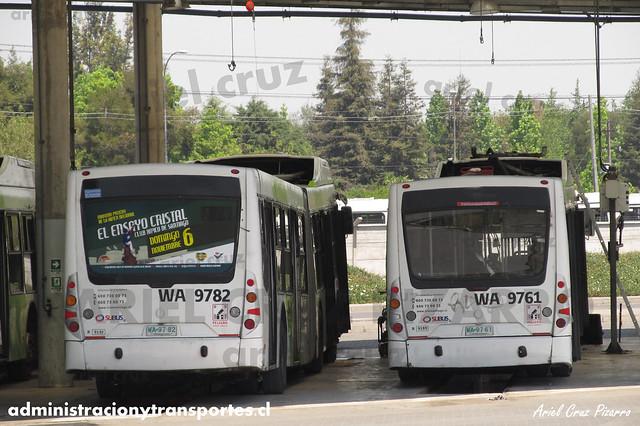 Transantiago - Subus Chile - Caio Mondego LA / Volvo (WA9761 - WA9762) (9199 - 9192)