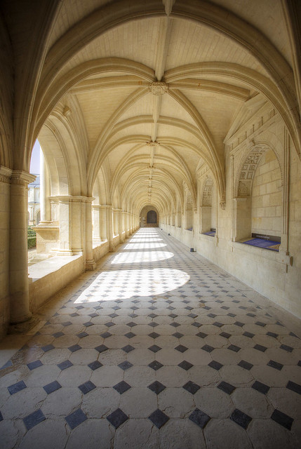 A hallway along the cloisters.