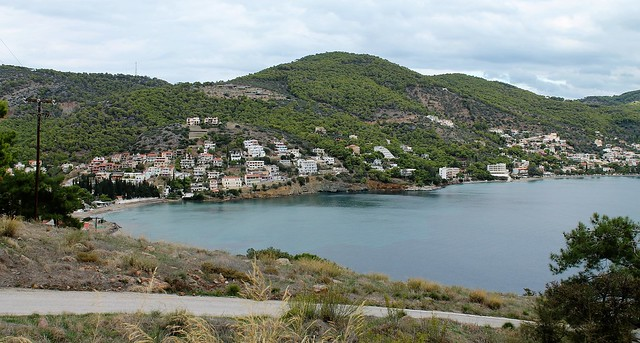 looking over Poros Greece