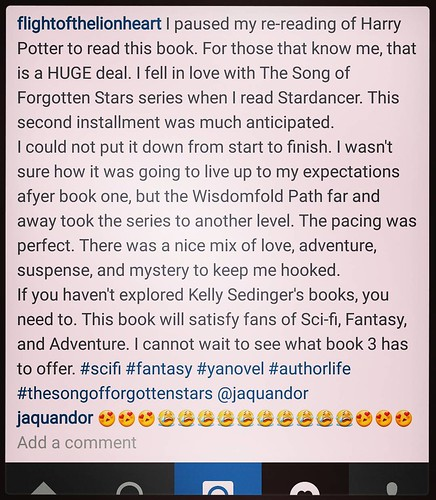 Moments like this make it ALL worthwhile. Thanks, @flightofthelionheart! #amwriting