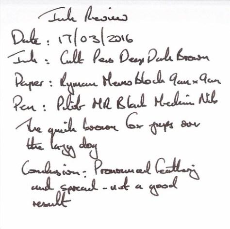Cult Pens Deep Dark Brown - Ryman Memo