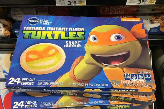 Pillsbury Teenage Mutant Ninja Turtles Shape Sugar Cookies