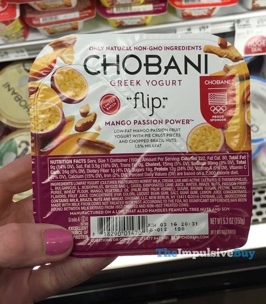 Limited Batch Chobani Flip Mango Passion Power Greek Yogurt