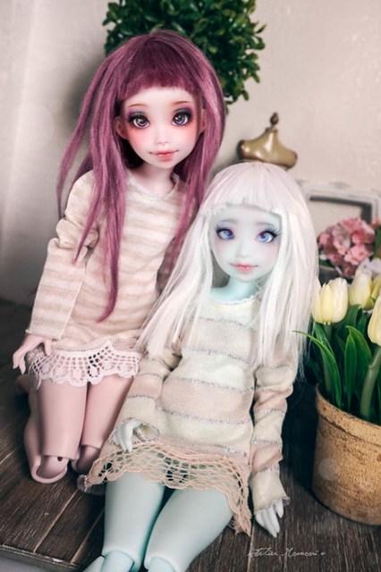Nena02 Lavender Pink & Iced Blue