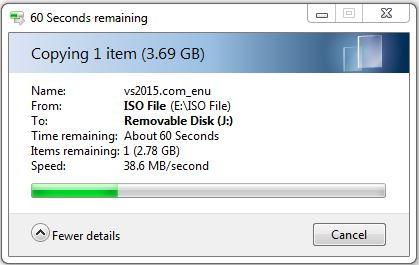 Copy file với cổng USB 3.0